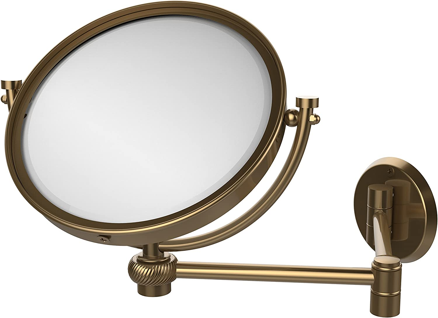 Allied Brass WM-6T 5X-BBR 8-Inch Wall Mirror with 5x Magnification, Extends Up to 14-Inch, Brushed Bronze