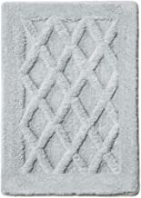 MICRODRY Luxury SoftTip, Charcoal Infused Memory Foam Bath Mat with GripTex Skid-Resistant Base (17x24, Silver)