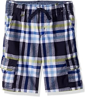 Gymboree Baby Boys' Toddler Drawstring Plaid Cargo Shorts