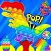 スーパーフィジェットポッパーズ*プッシュPOP-フィジェットトイズアンチストレス&カーミング* POPカップケーキ、恐竜、ソーダ、花など