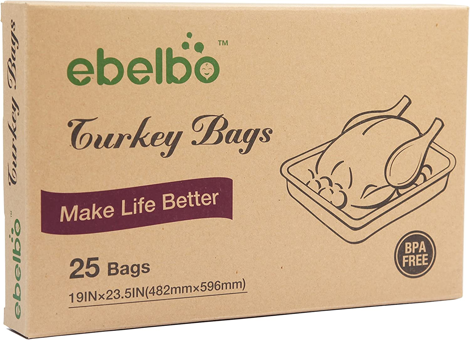 Ebelbo Oven Turkey Cooking Max 55% OFF Bags Roasting For Food Multi-P Ranking TOP14