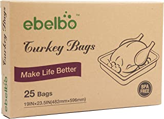 Ebelbo Oven Turkey Cooking Bags, Roasting Bags For Home Kitchen Food-Large Size, 25 Pack