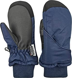 N`Ice Caps Kids and Baby Easy-On Wrap Waterproof Thinsulate Winter Snow Mitten (Navy 2, 4-5 Years)