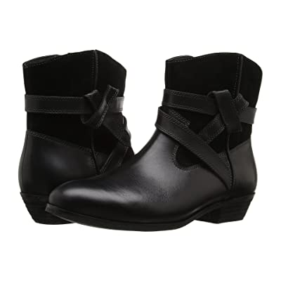 SoftWalk Roper (Black Smooth Leather/Cow Suede) Women