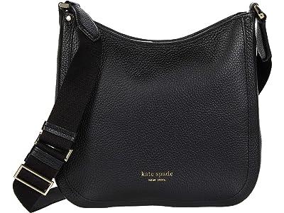 Kate Spade New York Roulette Medium Messenger (Black) Handbags