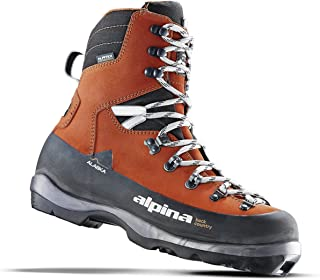 Alpina Sports Alaska Leather Backcountry Cross Country Nordic Ski Boots, Euro 36, Red