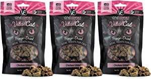 Vital Cat Freeze Dried Chicken Giblets Treats - All Natural - Essential Amino Acids Promotes Healthy Weight - Made in USA - Grain & Gluten Free 1 oz Pkg - 3 Pk