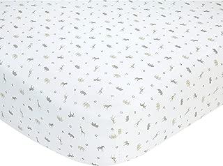 Carter's Safari Print Cotton Sateen Crib Sheet - Taupe - 52
