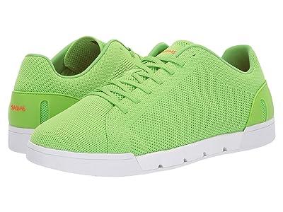 SWIMS Breeze Tennis Knit Sneakers (Acid Green/White) Men