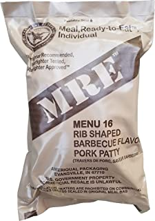 Ultimate 2018 US Military MRE Complete Meal Inspection Date January 2018 or Newer (BBQ Pork Rib)
