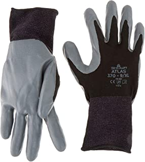 SHOWA 370B Lightweight, Flexible General Purpose Work Glove, Black, X-Large, 12 Pair