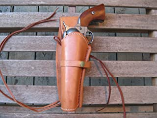 """Western Express – Left – for 6"""" Tan Smooth Leather Gun Holster (.22 .38 .45 Caliber)"""