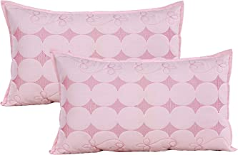 Rj Products Cotton Pillow Covers Embroided Desingner Piece Gives Luxirious Looks Pink Colour