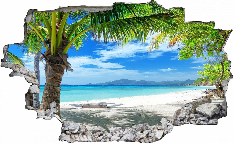 Palmen Palmen Palmen Meer Strand Beach Karibik Wandtattoo Wandsticker Wandaufkleber C0316 Größe 100 cm x 150 cm B077PJ57T5 294670