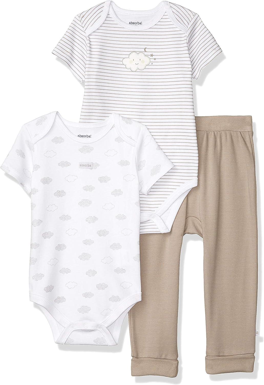 absorba baby-boys Bodysuit Pants Set