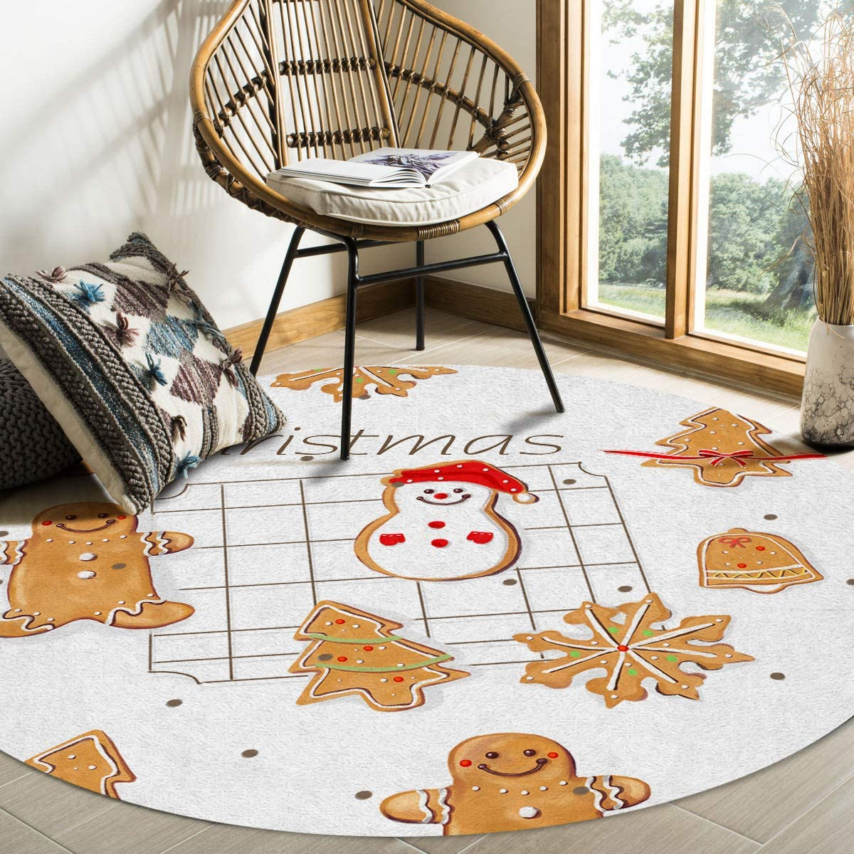 Modern Round Classic Area Rug 4 for Feet Low-Profi Bedroom Non-Shedding Max 43% OFF