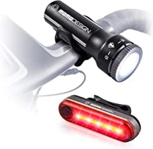 MOMODESIGN Bike Light KIT 300 USB Rechargeable, Bicycle Cycling Headlight & Rear Light Set for Night Visibility, Weather R...