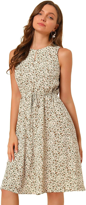 Allegra Max 65% OFF Brand Cheap Sale Venue K Women's Printed Split Waist Sleeveless Drawstring Neck