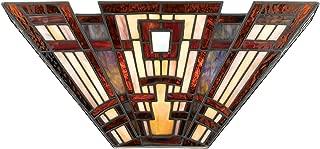 Quoizel TFCC8802 Classic Craftsman Tiffany Wall Sconce, 2-Light, 120 Watts, Tiffany (7