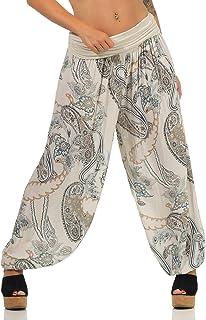 Malito Femme Pantalon Lin Jungle Print Pantalon Loisirs Chino 7790