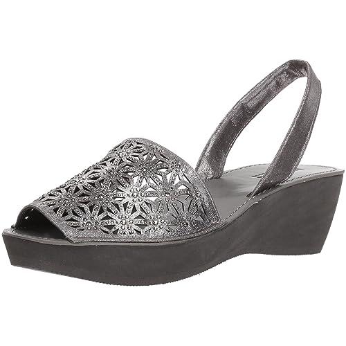 e5dc0647bb23 Kenneth Cole REACTION Women's Shine Far Platform Slingback Wedge Sandal