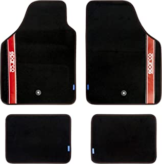 Sparco Universal Mats Set of 4, S03763BRS, H40.8 x W50.6 x D8 cm, Red