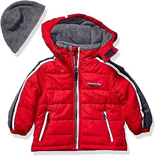 London Fog Boys' Little Active Puffer Jacket Winter Coat, Super red, 7