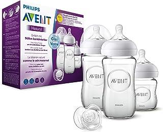 Philips 飞利浦新安怡 天然奶瓶套装 SCD303/01 适合新生儿(120和260毫升)0m+,玻璃,3瓶
