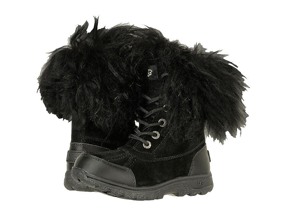 UGG Kids Butte II Fluff (Little Kid/Big Kid) (Black) Kids Shoes