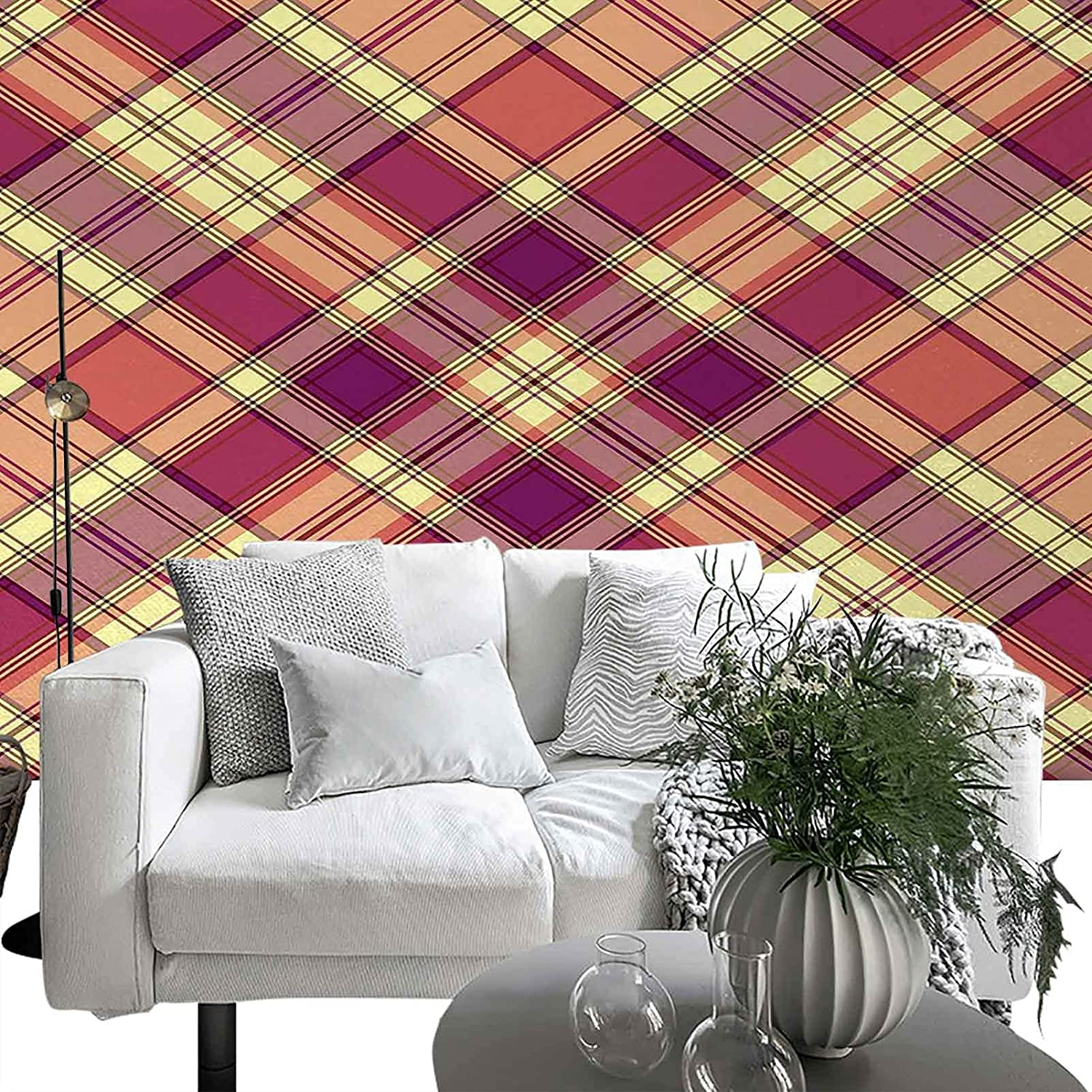 Japan's largest assortment List price Wall Sticker for Bedroom Living Room Style Checkered Displ Retro
