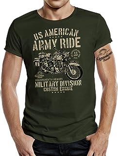 Gasoline Bandit Original Design Biker Military T-Shirt für den US-Army Fan