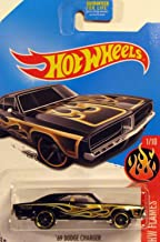 HOT WHEELS 2016 RELEASE KMART DAYS EXCLUSIVE BLACK WITH GOLD FLAMES '69 DODGE CHARGER DIE-CAST