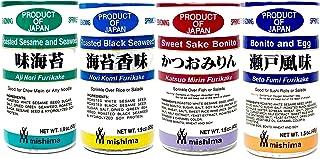 Mishima Rice Seasoning Furikake Variety Pack   4 Flavors   Product of Japan SET OF 2