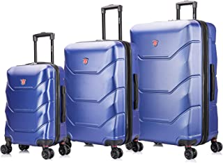 DUKAP Luggage Set - Zonix Collection - Lightweight Hardside 3 piece set 20''/26''/30'' - Blue - Suitcases with Wheels