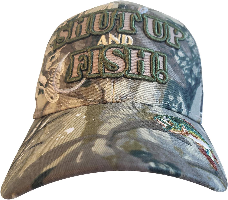 Max 64% Genuine OFF Artisan Owl Shut Up and Fish Fisherman Fishing Embro Funny Hat -