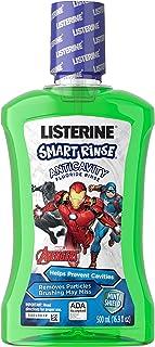 Listerine Smart Rinse Kids Alcohol-Free Fluoride Mouthwash, Marvel Avengers, Mint Flavor, 500 mL (Pack of 6)