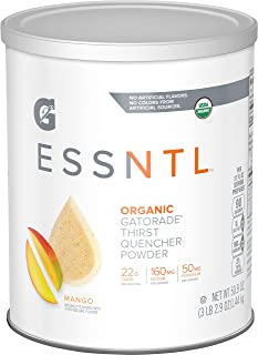 G ESSNTL Organic Gatorade Thirst Quencher Powder, Mango, 50.9oz Canister (Pack of 3)
