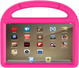 Amazon Kindle Fire 7 Case 2015, Huaup Light Weight [Anti Slip] Shock Proof Protective Cover [Kids Friendly] (Previous 5th Generation ONLY, 2015 7 inch) (Fire 7 Case, Pink)
