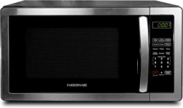 Farberware FMO11AHTBKB 1.1 Cu. Ft. Stainless Steel Countertop Microwave Oven With 6..