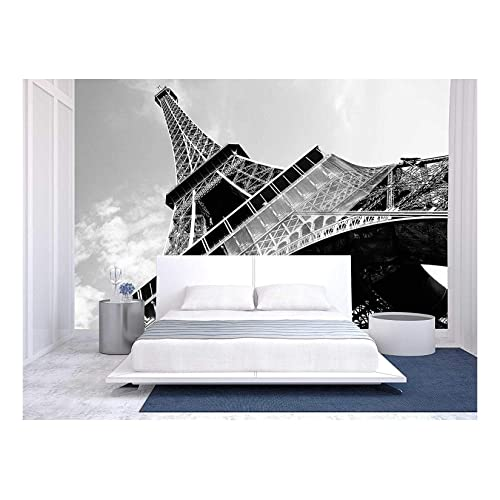 Black White Citie Paris Red Old Car Wall Mural Photo Wallpaper Giant Wall Decor