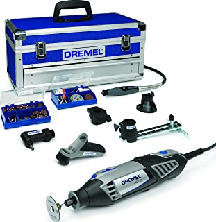 Dremel 4000 Rotary Tool 175 W, Rotary Multi Tool Kit with 6 Attachments 128 Accessories Variable Speed 5000-35000 rpm for ...