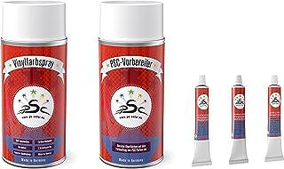 Vinylverf geschikt voor BMW palladiumzilver palladium-zilver kunstlederreiniger & vloeibaar leer & spatel - set 5-150 viny...