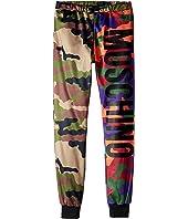 Moschino Kids - Camouflage Sweatpants w/ Logo on Front (Big Kids)