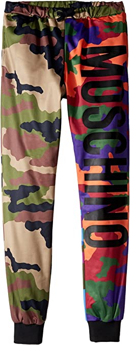 Moschino Kids - Camouflage Sweatpants w/ Logo on Front (Big Kids)