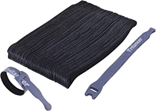 Attaches de Câble Trilancer Réutilisable Fermeture en Nylon Microfibre Organisateur pour Cordes et Gestion des Câbles 20cm...