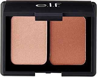 e.l.f. Cosmetics Contouring Blush & Bronzing Powder, Two Matte Shades Perfectly Contour Skin, Turks & Caicos