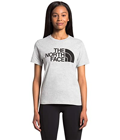 The North Face Half Dome Cotton Short Sleeve Tee (TNF Light Grey Heather/TNF Black) Women