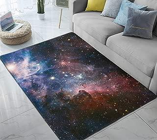 Round Yoga Carpet Living Room Bedroom Floor Mat Space Galaxy Star Swirl Area Rug
