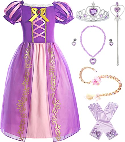 ReliBeauty Girls Dress Puff Sleeve Princess Costume