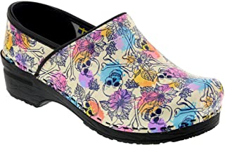 Bjork Professional Bonita Skulls Leather Clogs